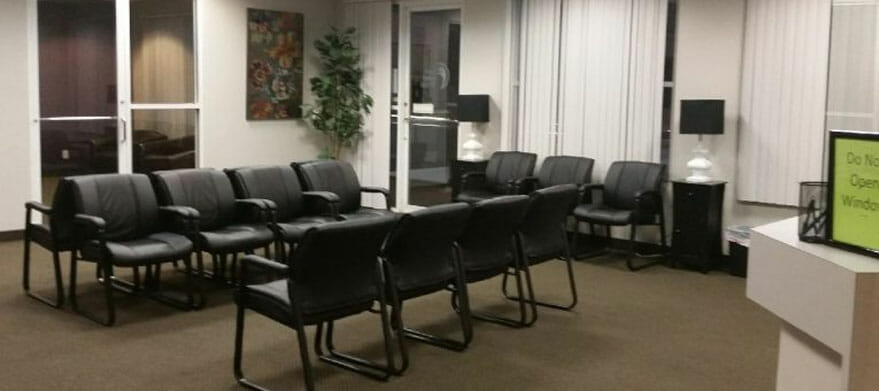 inner view of Counseling group in Hurst Texas; sitting arrangement for patients at Texas Health & counseling group