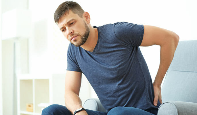 Person dealing with Sacrum Pain