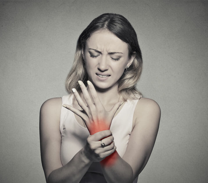 patient with carpal tunnel syndrome
