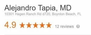 Dr Alejandro Tapia Google Reviews